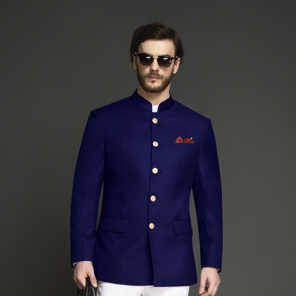 Indigo Blue Jodhpuri Suit-mbview-3