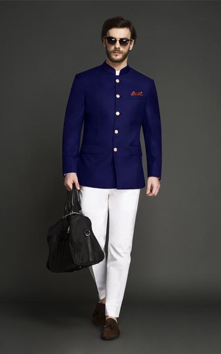 Indigo Blue Jodhpuri Suit