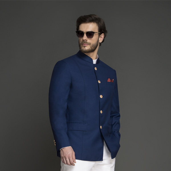 Turkish Blue Jodhpuri Suit-mbview-3