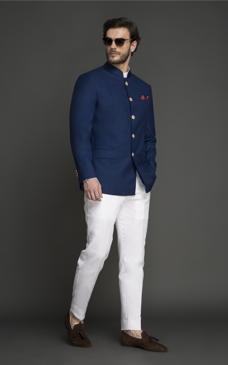 Turkish Blue Jodhpuri Suit