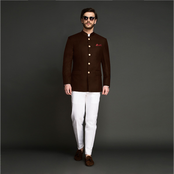 Regal Slate Brown Jodhpuri Suit-mbview-1
