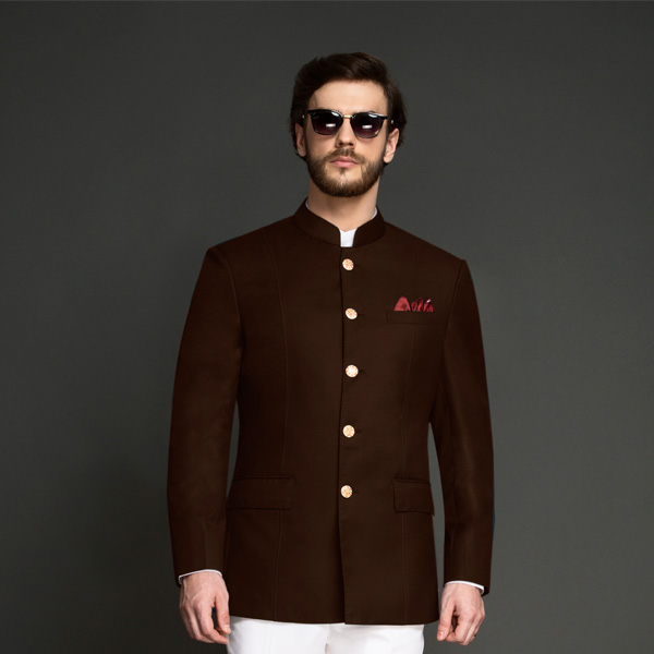 Regal Slate Brown Jodhpuri Suit-mbview-3
