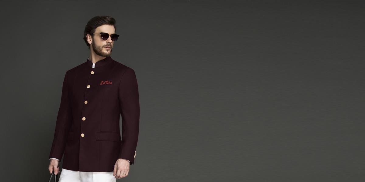 Signature Burgundy Jodhpuri Suit- view-3