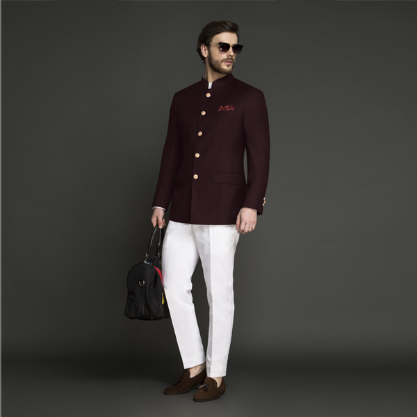 Signature Burgundy Jodhpuri Suit-mbview-1