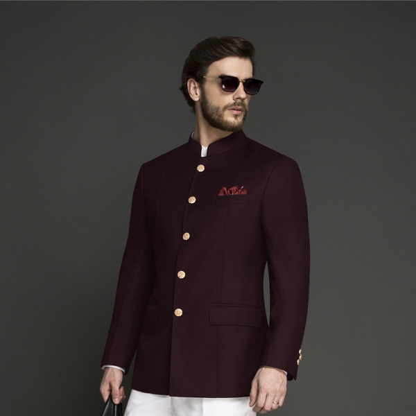 Signature Burgundy Jodhpuri Suit-mbview-3