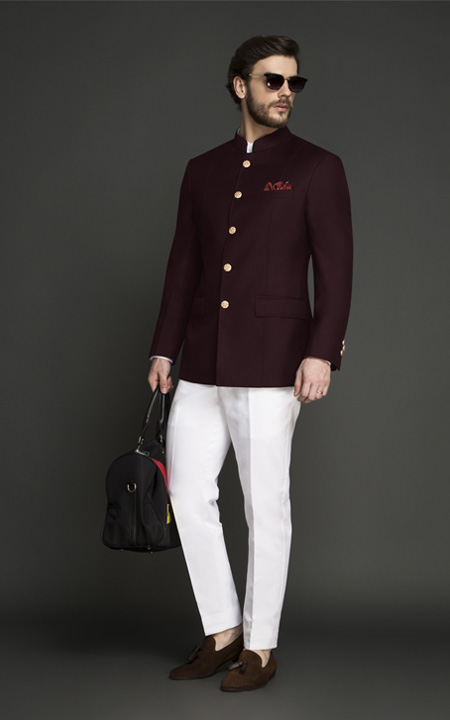 Signature Burgundy Jodhpuri Suit