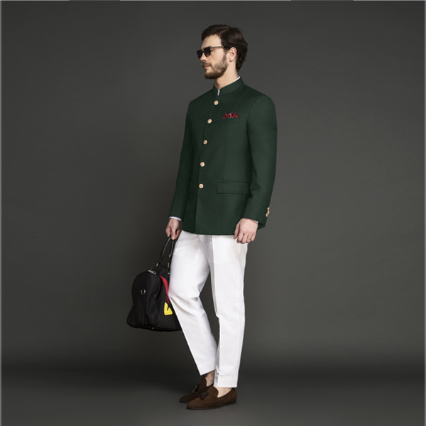 Emerald Green Jodhpuri Suit-mbview-1