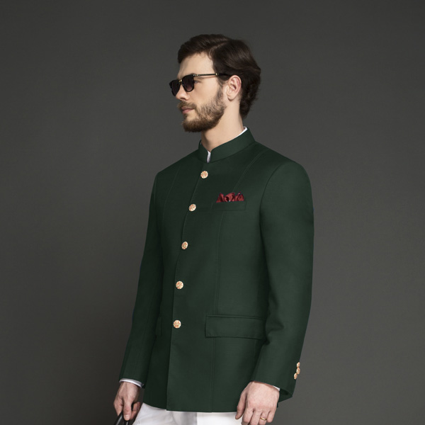 Emerald Green Jodhpuri Suit-mbview-3