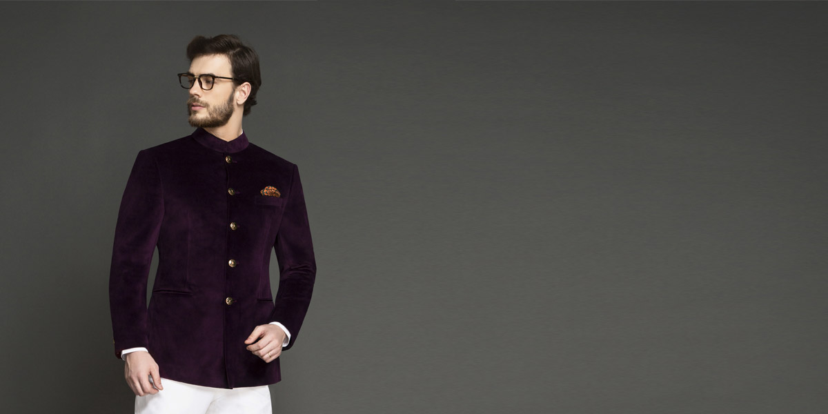 Regal Wine Velvet Jodhpuri Suit- view-3