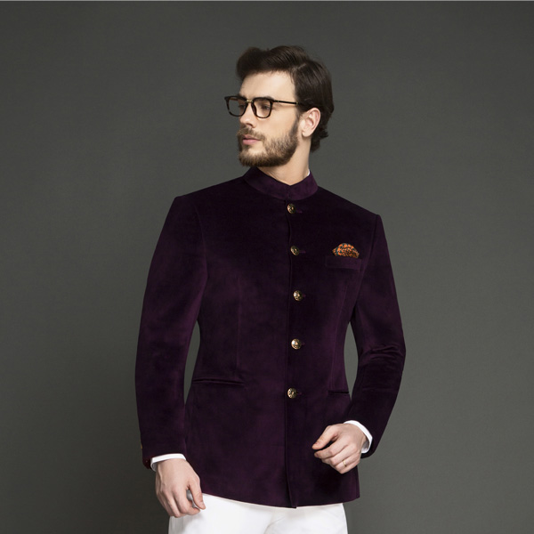 Regal Wine Velvet Jodhpuri Suit-mbview-3
