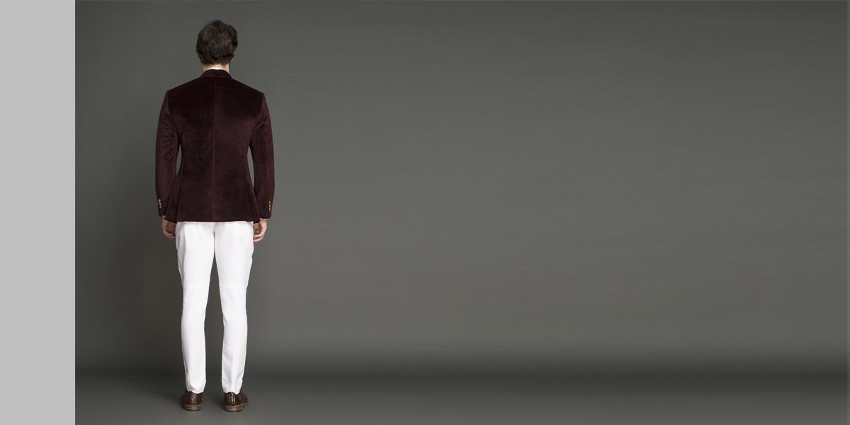 Statesman Burgundy Velvet Jodhpuri Suit- view-3