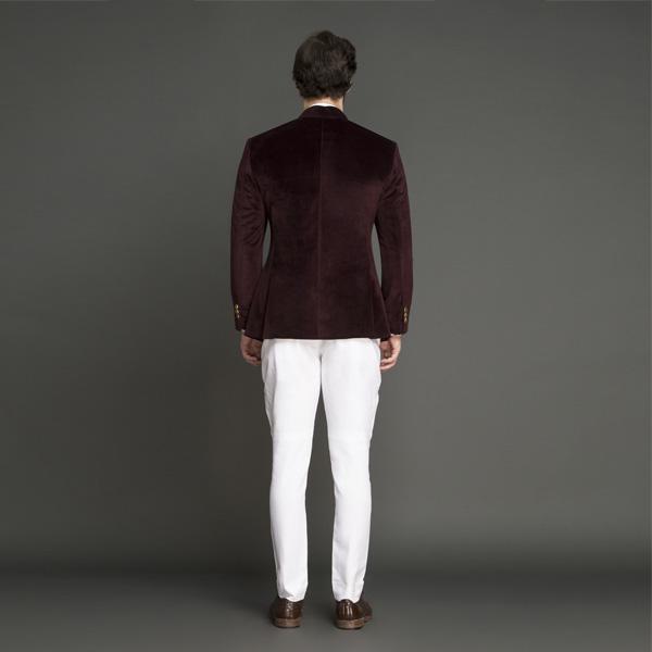 Statesman Burgundy Velvet Jodhpuri Suit-mbview-2