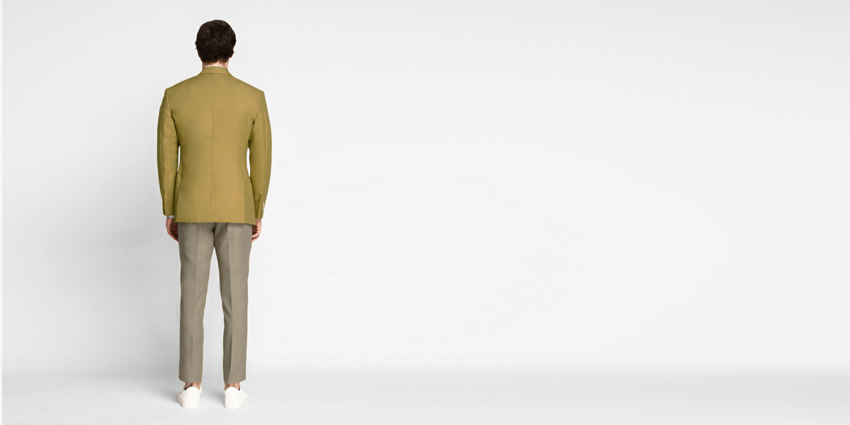 British Khaki Cotton Blazer- view-2