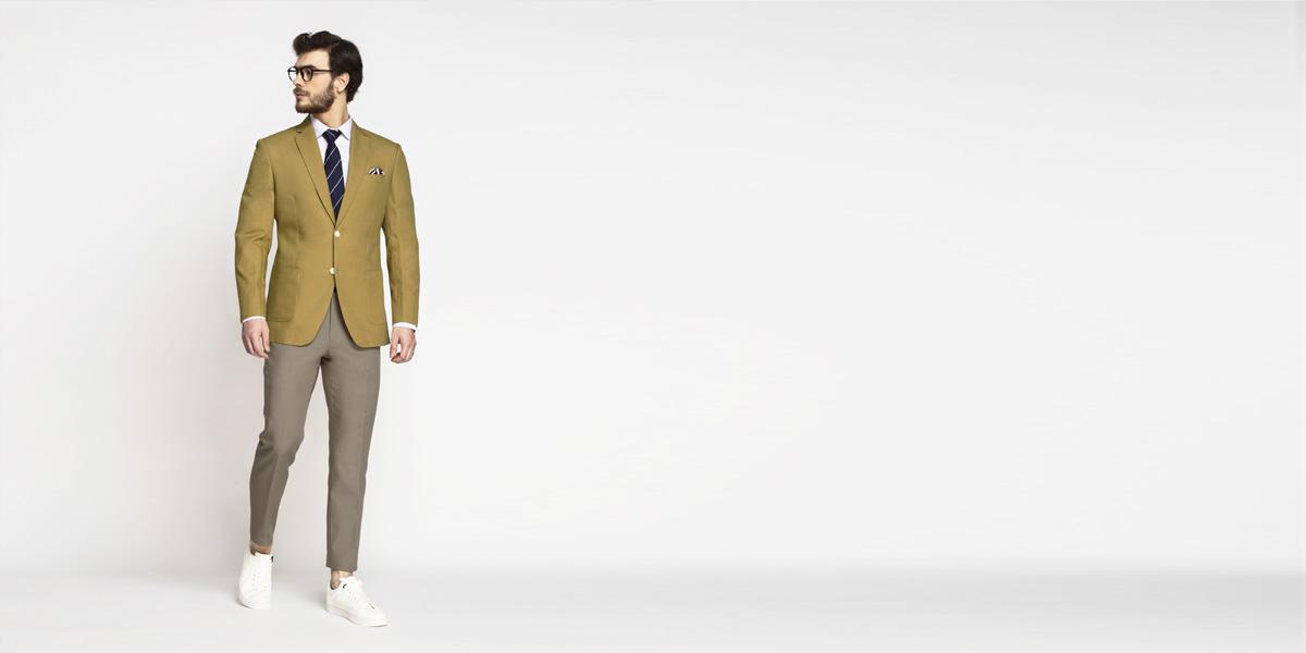 British Khaki Cotton Blazer- view-3