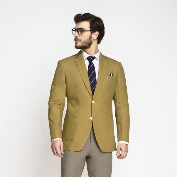British Khaki Cotton Blazer-mbview-1