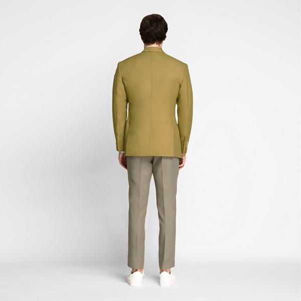 British Khaki Cotton Blazer-mbview-2