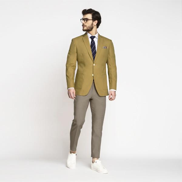 British Khaki Cotton Blazer-mbview-3