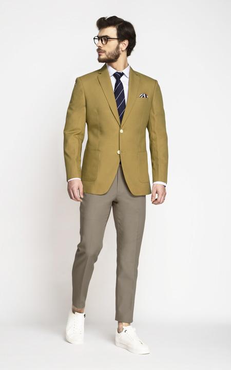 British Khaki Cotton Blazer