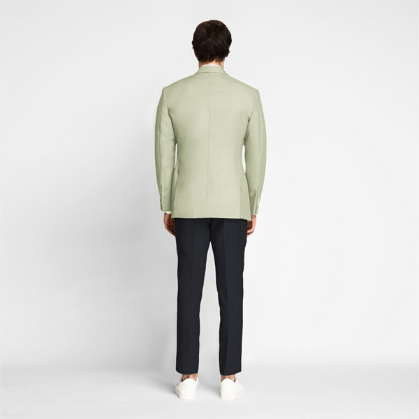 Sage Green Cotton Blazer-mbview-2