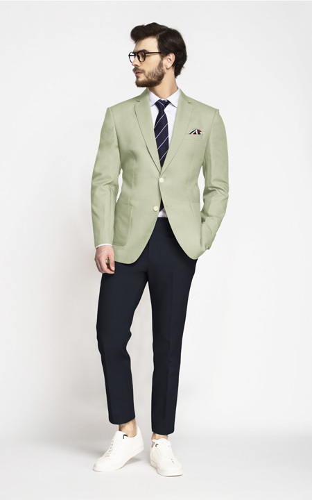 Sage Green Cotton Blazer