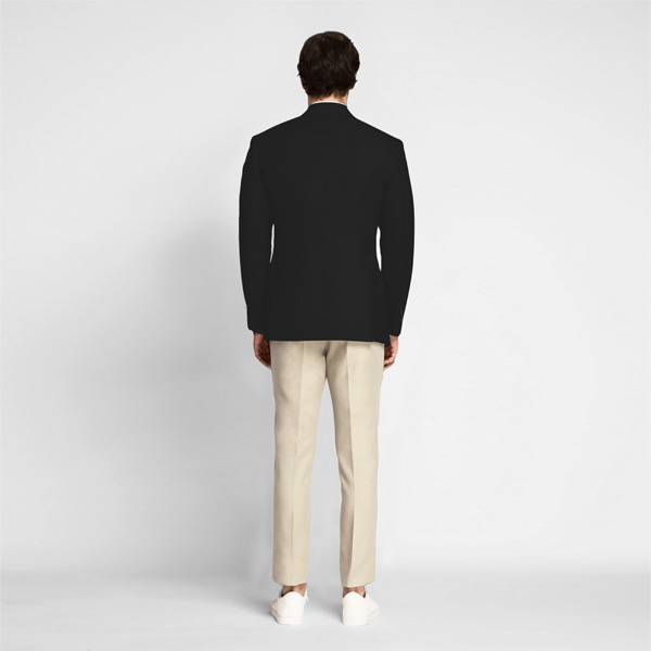 Boston Black Cotton Blazer-mbview-2