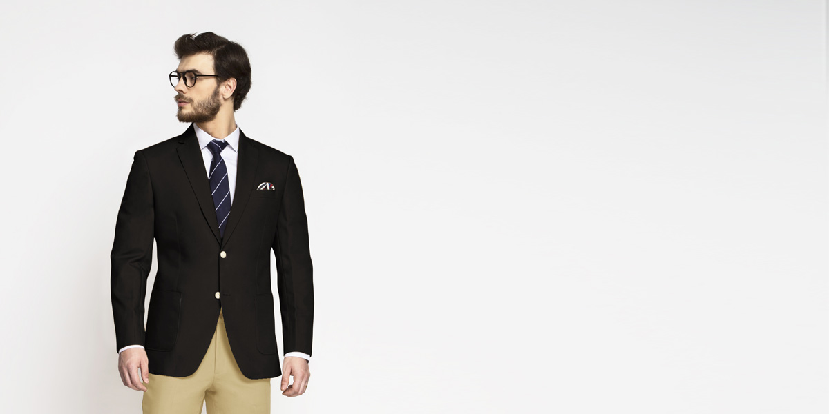 Brown Khaki Cotton Blazer- view-1