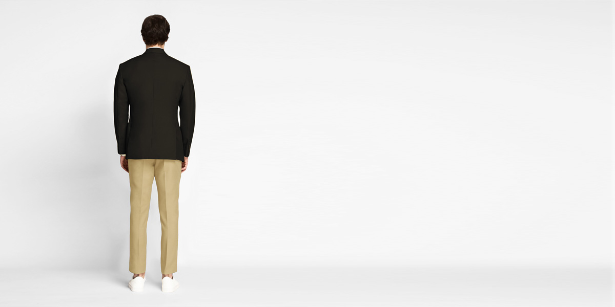 Brown Khaki Cotton Blazer- view-2