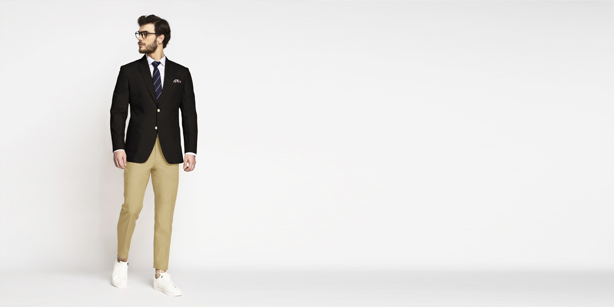 Brown Khaki Cotton Blazer- view-3