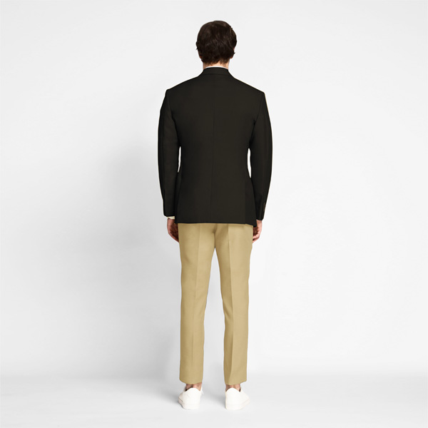Brown Khaki Cotton Blazer-mbview-2
