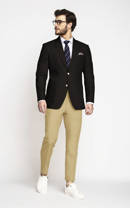 Brown Khaki Cotton Blazer