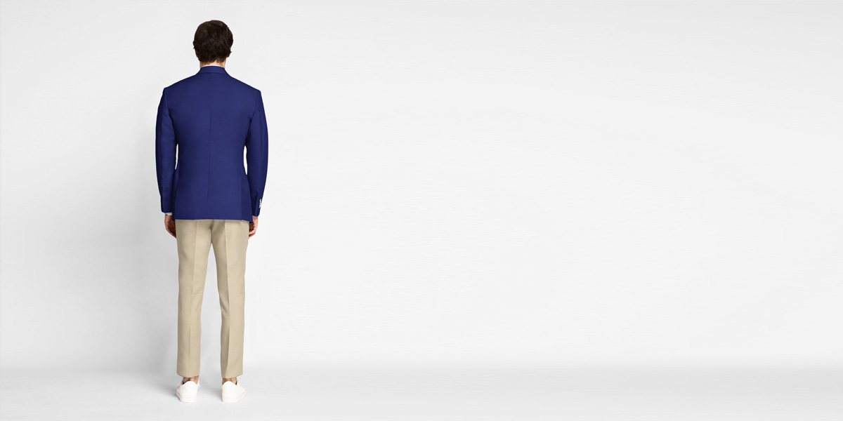 Royal Blue Cotton Blazer- view-2