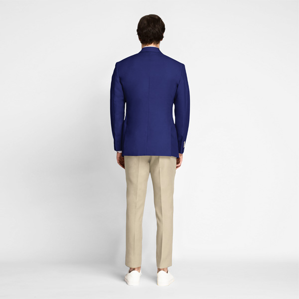 Royal Blue Cotton Blazer-mbview-2