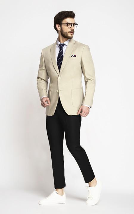 Pastel Cream Cotton Blazer