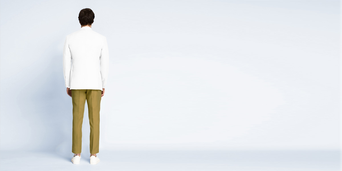 Napoli White Cotton Blazer- view-2