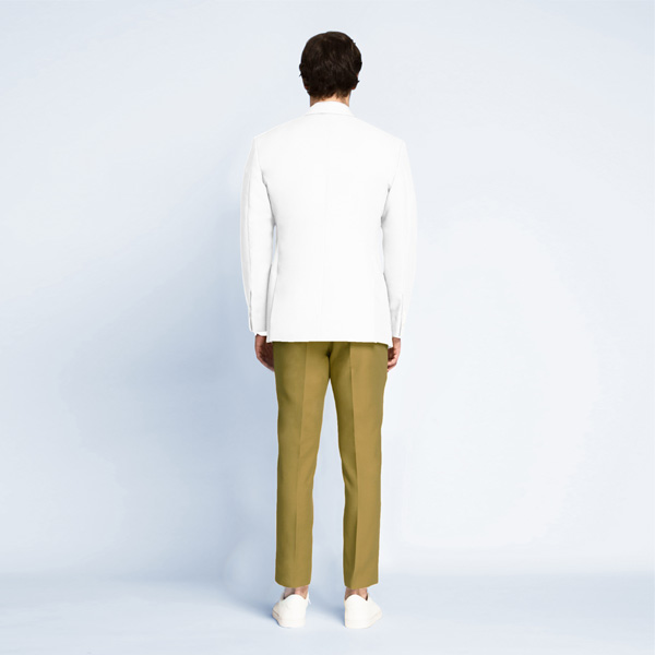 Napoli White Cotton Blazer-mbview-2