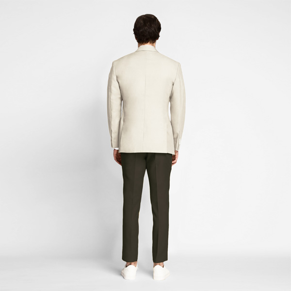 Beige Derby Cotton Blazer-mbview-2