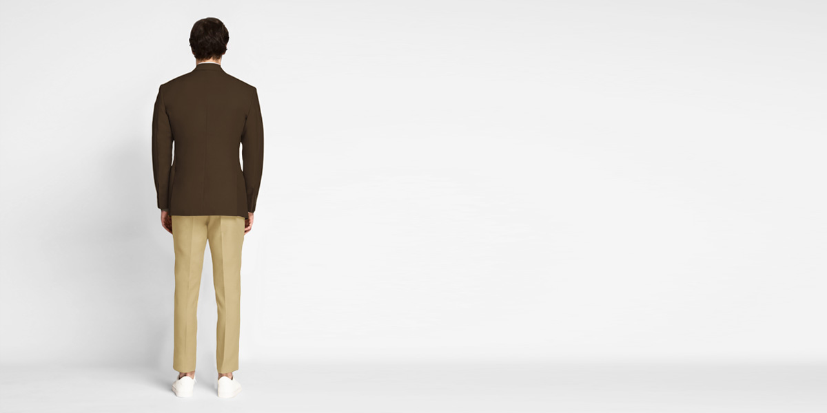 Classic Brown Cotton Blazer- view-2