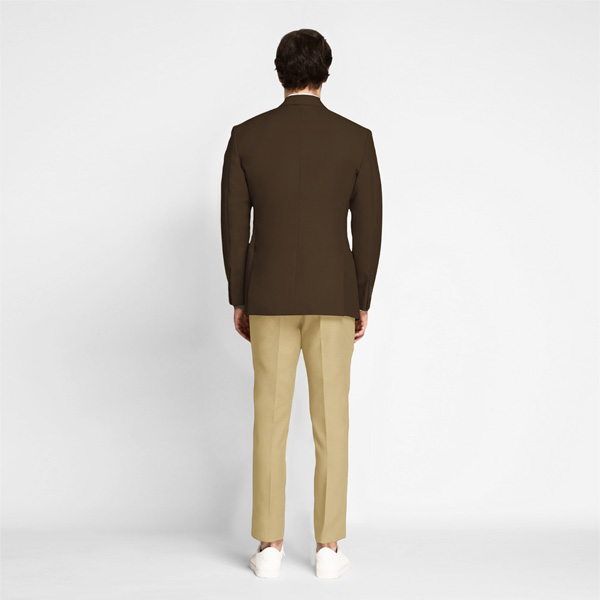 Classic Brown Cotton Blazer-mbview-2
