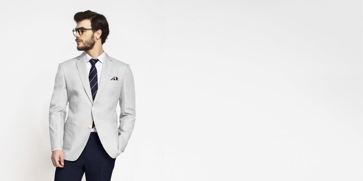 Slate Grey Cotton Blazer- view-1