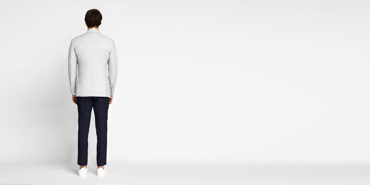 Slate Grey Cotton Blazer- view-2