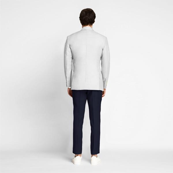 Slate Grey Cotton Blazer-mbview-2