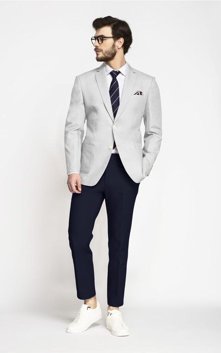 Slate Grey Cotton Blazer