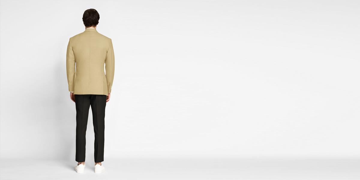 Khaki Brown Cotton Blazer- view-2
