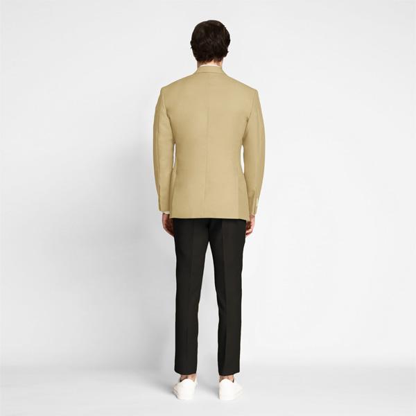Khaki Brown Cotton Blazer-mbview-2