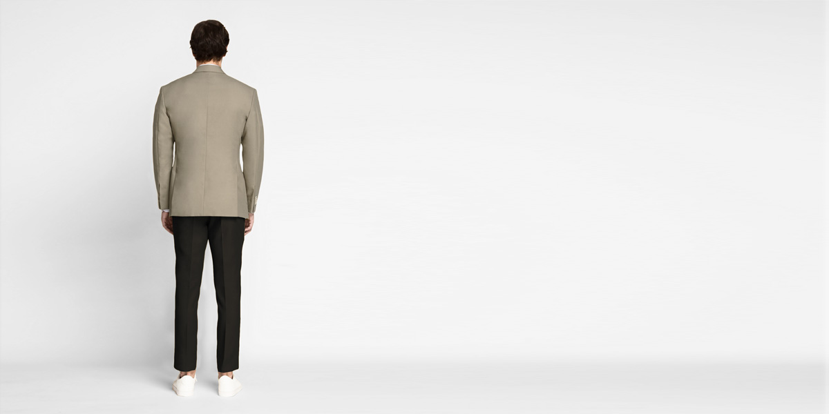 Pebble Brown Khaki Cotton Blazer- view-2