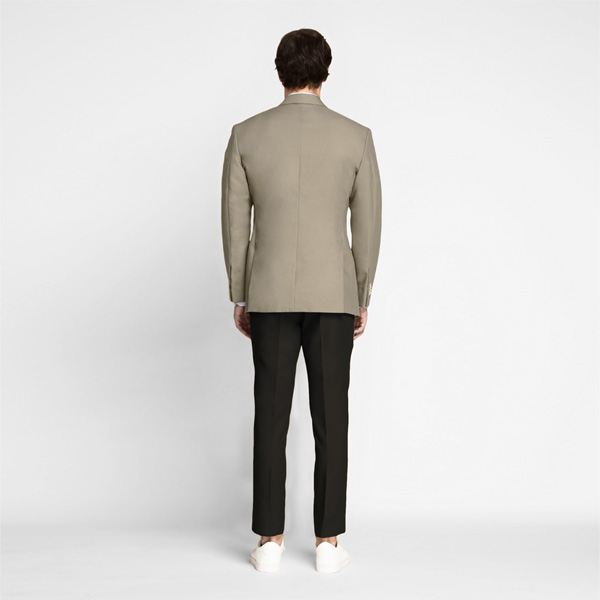 Pebble Brown Khaki Cotton Blazer-mbview-2
