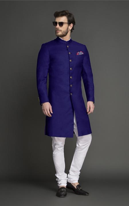 Indigo Blue Achkan