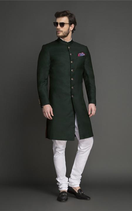 Emerald Green Achkan