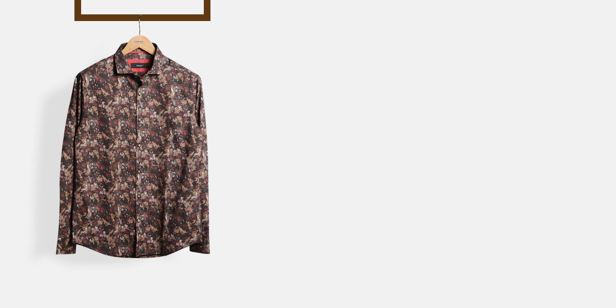 Aruba Brown Floral Shirt- view-1