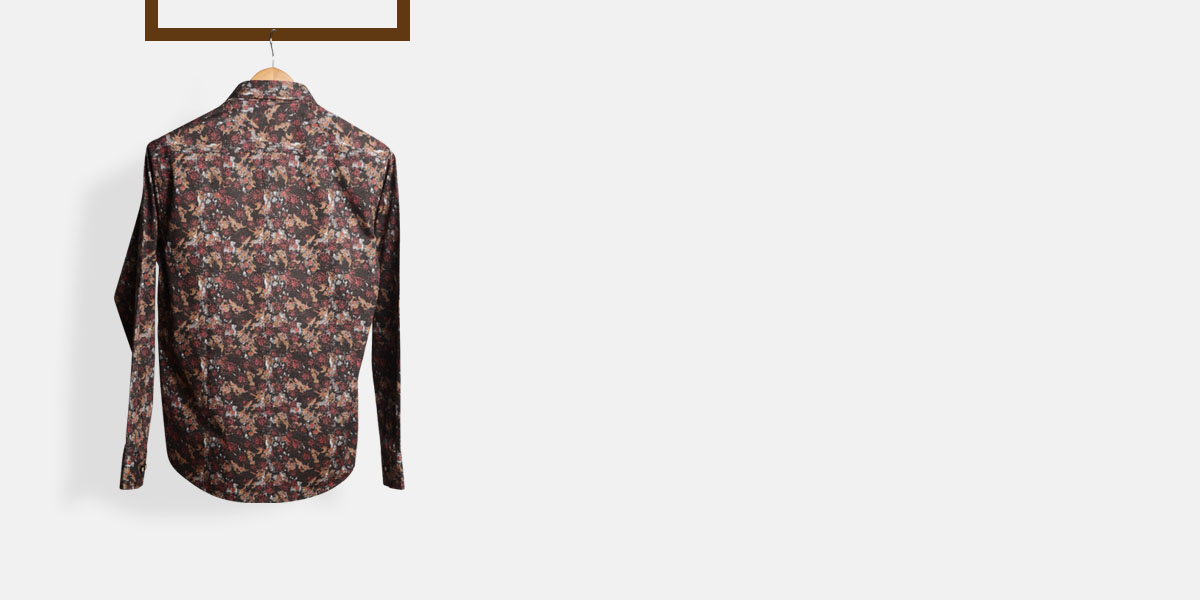 Aruba Brown Floral Shirt- view-2